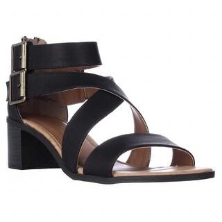 Rampage Havarti Low-Heel Dress Sandals - Black