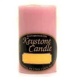 1 Pc Pink Hibiscus 2x3 Pillar Candles 2 in. diameterx3.25 in. tall