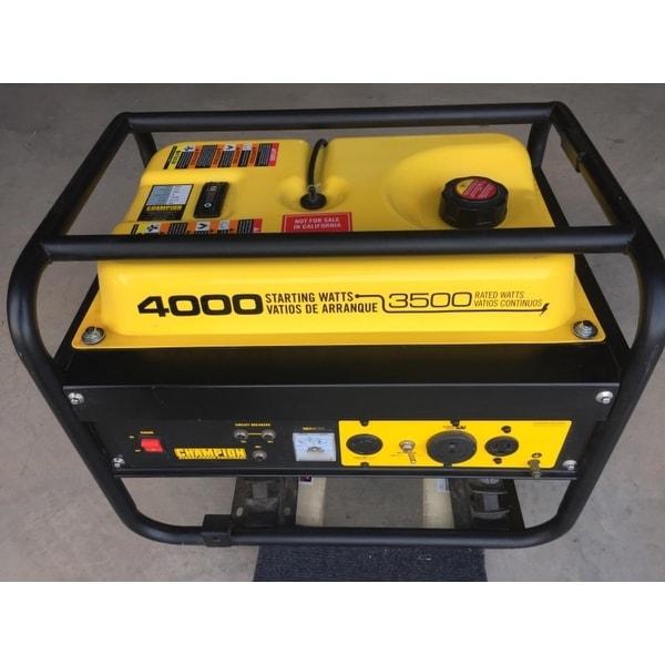 Shop Champion 3500 Watt RV Ready Portable Generator (EPA)   Free Shipping  Today   Overstock.com   7318195