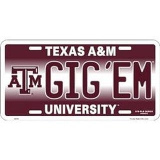 """Link to Texas A&M Aggies Ncaa """"Gig'em"""" License Plate - M Similar Items in Fan Shop"""
