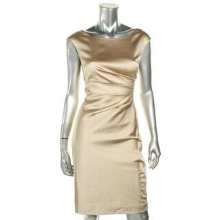 Lauren Ralph Lauren Womens Evening Dress Ruched Cap Sleeves - 6