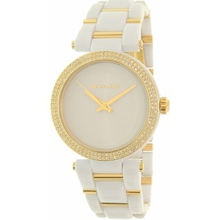 Michael Kors Women's Delray MK4315 White Plastic Quartz Fashion Watch