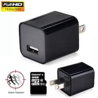 AGPtek HD1080P Hidden Spy Camera Mini USB Wall Adapter US Plug Charger Nanny Cam DV 16G