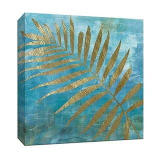 """PTM Images 9-147940  PTM Canvas Collection 12"""" x 12"""" - """"Golden Palm II"""" Giclee Ferns Art Print on Canvas"""