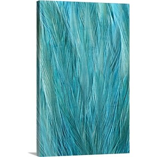 Premium Thick-Wrap Canvas entitled Blue Feathers