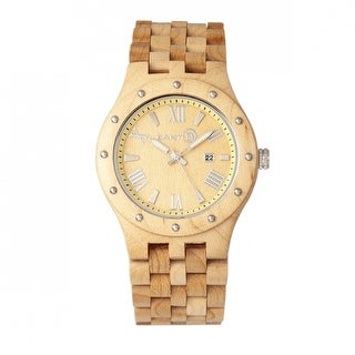 Earth Wood Inyo Unisex Quartz Watch, Wood Band, Luminous Hands
