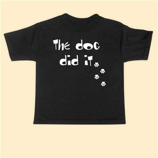 Rebel Ink Baby 357tt5T The Dog Did It - 5T - Toddler Tee Shirt