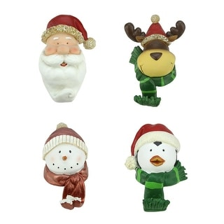polyresin snowman stocking holders pack of 3 free. Black Bedroom Furniture Sets. Home Design Ideas