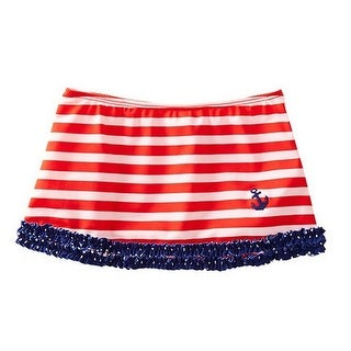 Azul Little Girls Red White Blue Stripe In The Navy Nautical Skirt