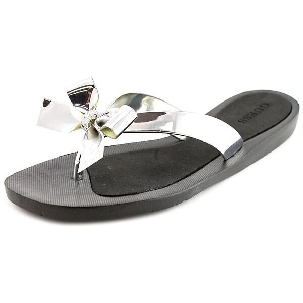 da403ab3c097c1 Shop Guess Tutu2 Women Open Toe Synthetic Silver Flip Flop Sandal ...