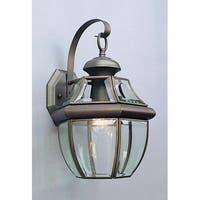 """Volume Lighting V9282 1 Light 14.5"""" Height Outdoor Wall Sconce with Clear Bevele"""