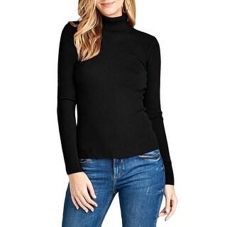 NE PEOPLE Womens Simple Ribbed Detailed Long Sleeve Turtleneck Shirt