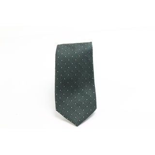 Black Brown 1826 NEW Green Polka Dot Men's Classic Neck Tie Silk