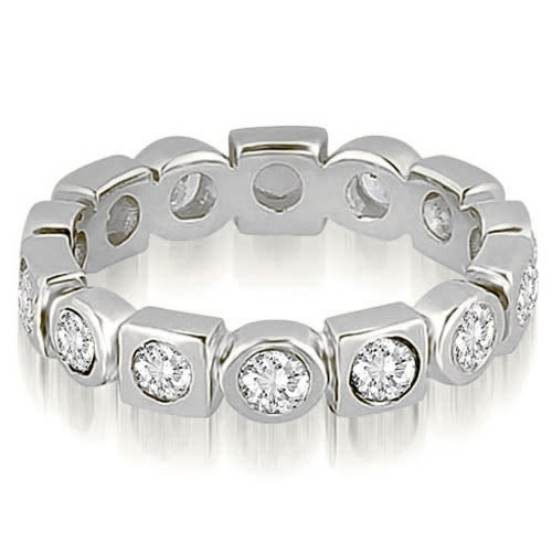 0.80 cttw. 14K White Gold Round Diamond Eternity Ring