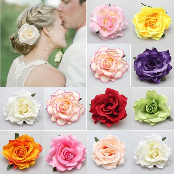 Rose Flower Hairpin Brooch Wedding Bridal Bridesmaid Party Accessories Hair Clip