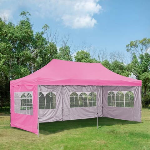 Zenova 10x20 Ft Pop up Canopy Tent, Wedding Party Heavy Duty Instant Gazebo - N/A
