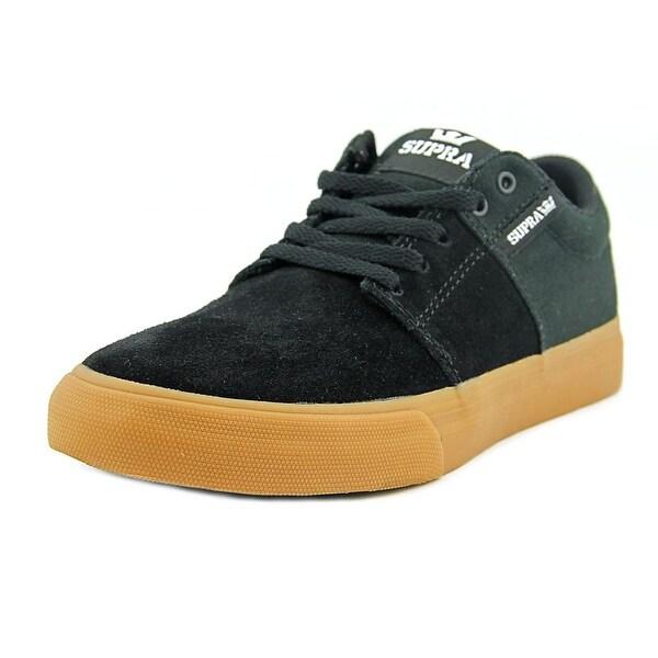 Supra Stacks Vulc II Youth Round Toe Canvas Black Sneakers