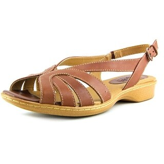 Softspots Haley N/S Open-Toe Leather Slingback Sandal
