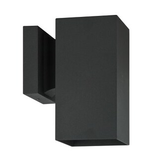 """Sunset Lighting F6891 Architectural Single Light 8"""" High Outdoor Wall Sconce"""