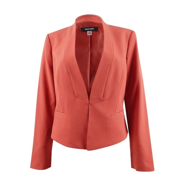 Nine West Women's Kiss-Front Collarless Jacket. Opens flyout.