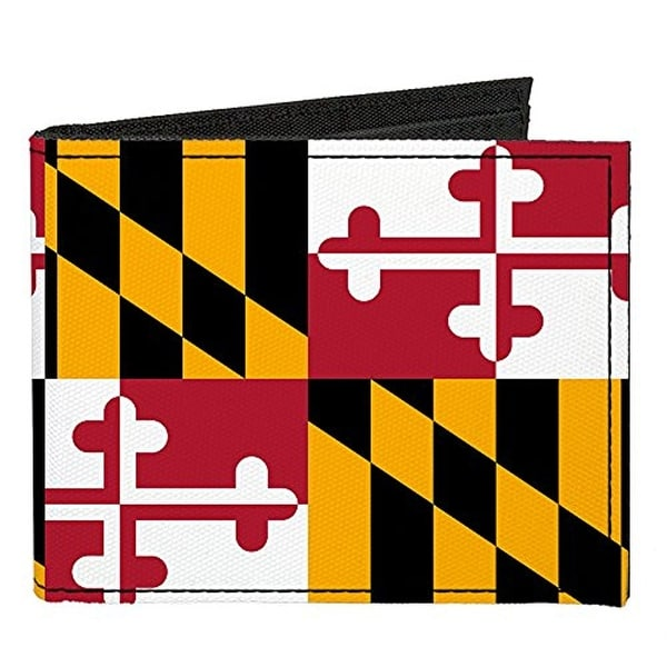 Buckle-Down Canvas Bi-fold Wallet - Maryland Flag Accessory