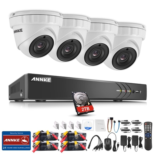 ANNKE 8CH 3MP HD Security Camera System with 2TB Hard Drive