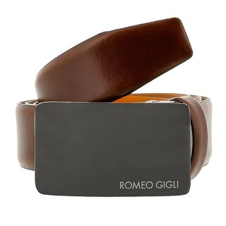 Romeo Gigli C838/35R Brown Leather Adjustable Mens Belt