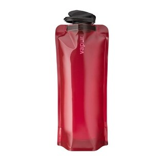 Vapur Eclipse BPA Free Durable Foldable Flexible Water Bottle with Carabiner, Burgundy, 1.0L