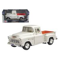 1955 Chevrolet 5100 Stepside Pickup Truck Beige 1/24 Diecast Car Model by Motormax