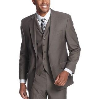 Sean John Brown Pindot Sportcoat 44 Long 44L Suit Separates