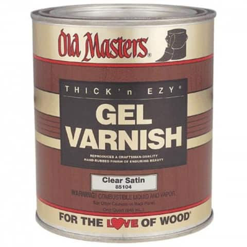 Old Masters 85104 Gel Varnish, Clear, 1 Qt