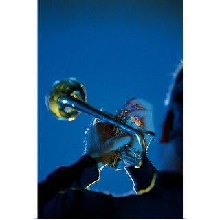 """Person playing trumpet"" Poster Print"