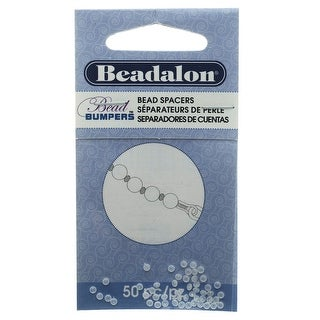 Beadalon Bead Bumpers, Oval Silicone Spacers 2mm, 50 Pieces, Clear