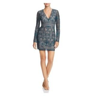 Link to STYLESTALKER Green Long Sleeve Mini Sheath Dress  Size M Similar Items in Dresses