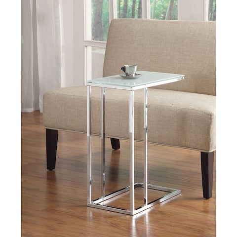 Creswell Glass and Metal Snack Table
