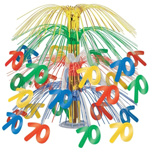 Pack Of 6 Multi Colored Happy 70th Birthday Party Cascading Table Centerpieces 18