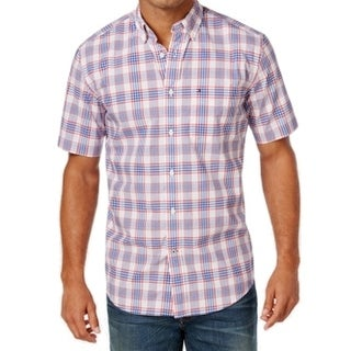 Tommy Hilfiger NEW Blue Plaid Mens Size Small S Button Down Shirt
