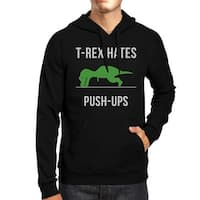 T-Rex Push Ups Mens/Unisex Black Pullover Fleece Hoodie Gifts For Christmas