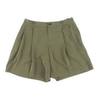 Lauren Ralph Lauren Womens Petites Double Pleat High Waist Dress Shorts - 12P