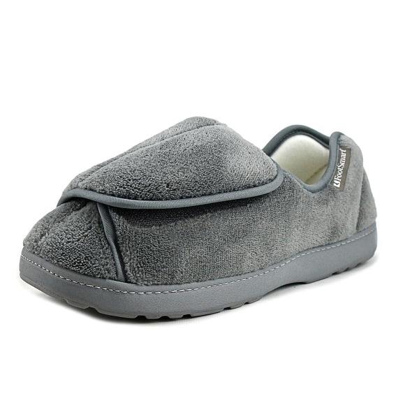 FootSmart Wrap-Around Slipper Round Toe Canvas Slipper