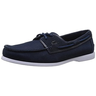 Lacoste Mens Navire Suede Slip On Boat Shoes - 8 medium (d)