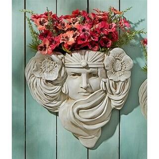 Art Nouveau Mystic Maiden Wall Pocket Planter Sculpture DESIGN TOSCANO planter