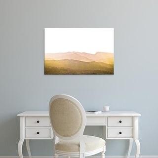 Easy Art Prints Keri Bevan's 'A Watercolor Wash of Light Crop Mustard and Blush' Premium Canvas Art