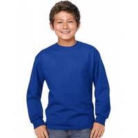 Hanes Youth ComfortSoft® TAGLESS® Long-Sleeve T-Shirt - Size - L - Color - Deep Royal