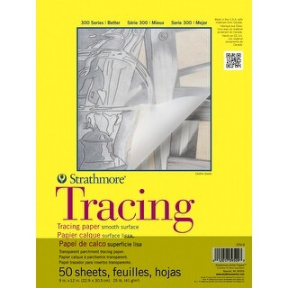 Strathmore Medium Bound Parchment Tracing Pad, 9 x 12 Inches, 50 Sheets