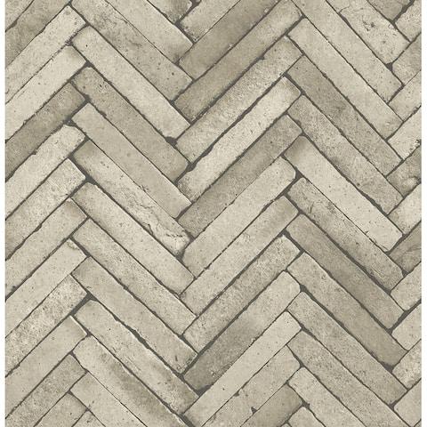 Arrow Neutral Diagonal Slate Wallpaper - 20.5in x 396in x 0.025in