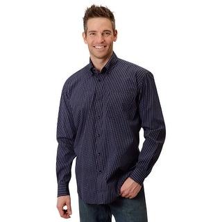 Roper Western Shirt Mens L/S Button Down Black 03-001-0326-0149 BL