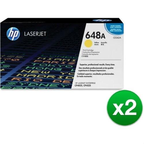 HP 648A Yellow Original LaserJet Toner Cartridge f/ US Government (CE262AG)(2-Pack)