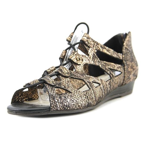 Easy Street Savvy Metallic Snake Sandals