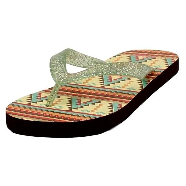 Blazin Roxx Western Shoes Womens Baylee Flip Flops Green
